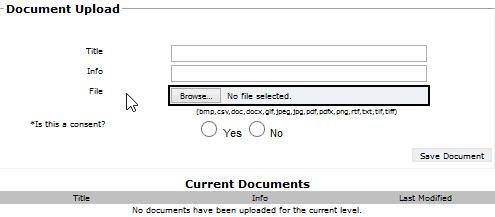 Upload Form Page
