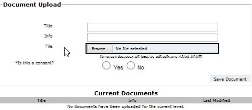 Upload Form Page